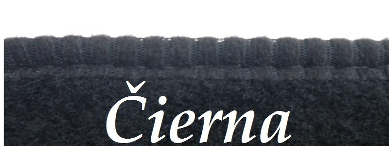 Čierna textilná lemovka na kobercoch