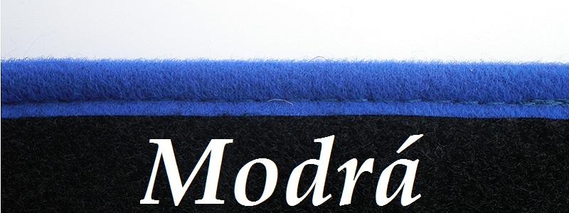 Svetlo modrá farba obšitia kobercov