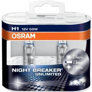 Žiarovky Osram Night Breaker Unlimited 12V H1 55W - set 2ks