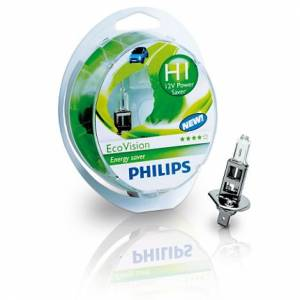 PHILIPS EcoVision 12V H1 55W P14,5s - set 2ks