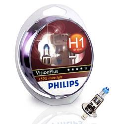 PHILIPS VisionPlus 12V H1 55W P14,5s - set 2ks