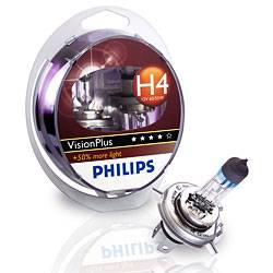 PHILIPS VisionPlus 12V H4 60/55W P43T - set 2ks