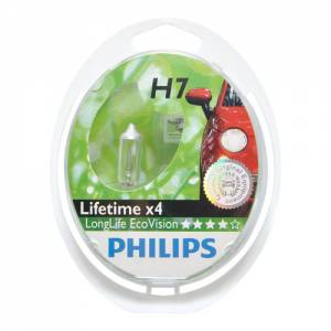 PHILIPS LongerLife EcoVision 12V H7 55W PX26d - set 2ks