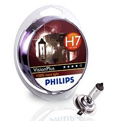 PHILIPS VisionPlus 12V H7 55W PX26D - set 2ks