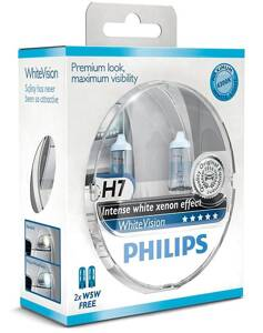 Žiarovky Philips WhiteVision 12V H7 55W PX26d+W5W - set 2ks